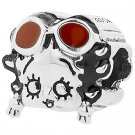 """Personality Jewelry Collection Sterling Silver """"Betty Boop"""" Enamel Betty Oop A Doop Bead"""