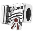 """Personality Jewelry Collection Sterling Silver """"Wizard of Oz"""" Enamel Diploma Bead"""