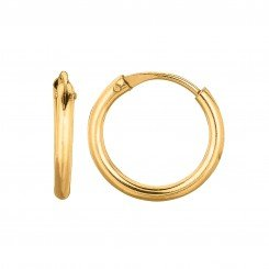 14K Yellow Gold 0.5X9mm Round Endless Small Hoop Earring