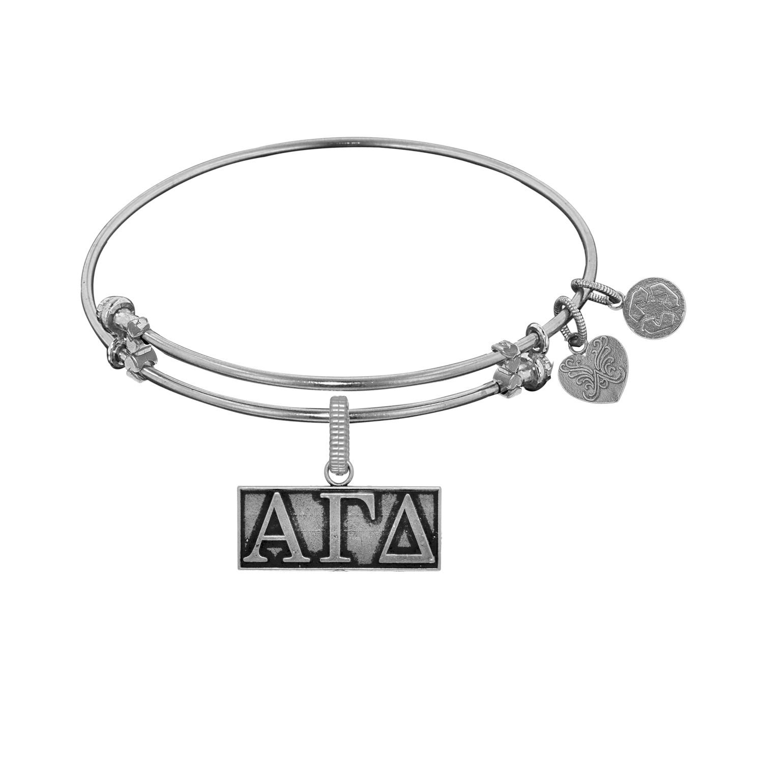 Angelica jewelry Collection Alpha Gamma Delta Brass with White Finish bracelet