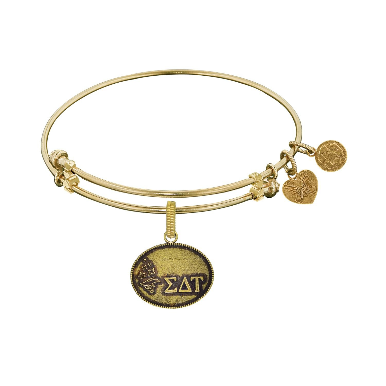 Angelica jewelry Collection Simga Delta Tau bracelet Brass with Yellow Finish