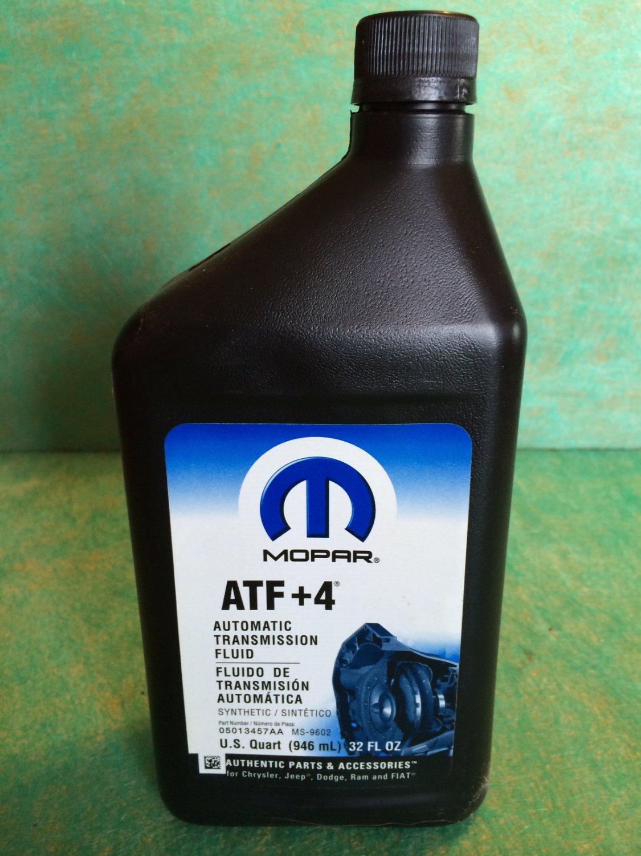 Low Transmission Fluid >> Mopar ATF+4 Automatic Transmission Fluid - 05013457AA - 1 qt.