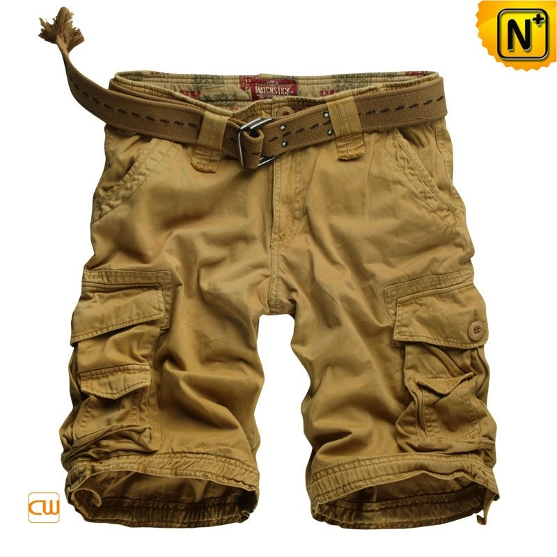Men Cargo Shorts with Waist Belt CW140061