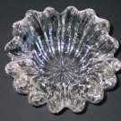 Vintage Murano Art Glass Cigar Ashtray Clear Thick and Ribbed