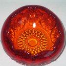 Vintage Indiana Glass Tiara Amberina Large Rose Bowl