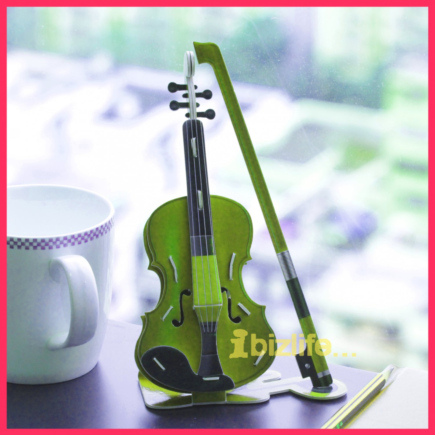 Calebou - VIOLIN (Musical) PAPER 3D puzzle DIY simple jigsaw model as gift