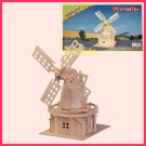 Wooden 3D puzzle - WINDMILL as DIY jigsaw Children educational Toy gift (WP07)