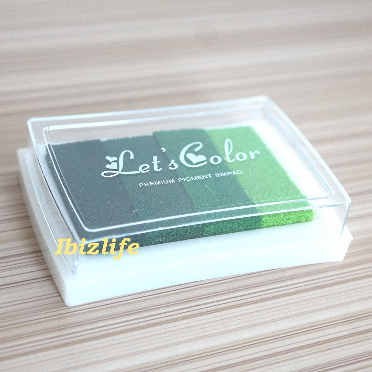 4 Color Oil Based Ink Pad for Rubber Stamps on Paper, Wood and Fabric (WS07)