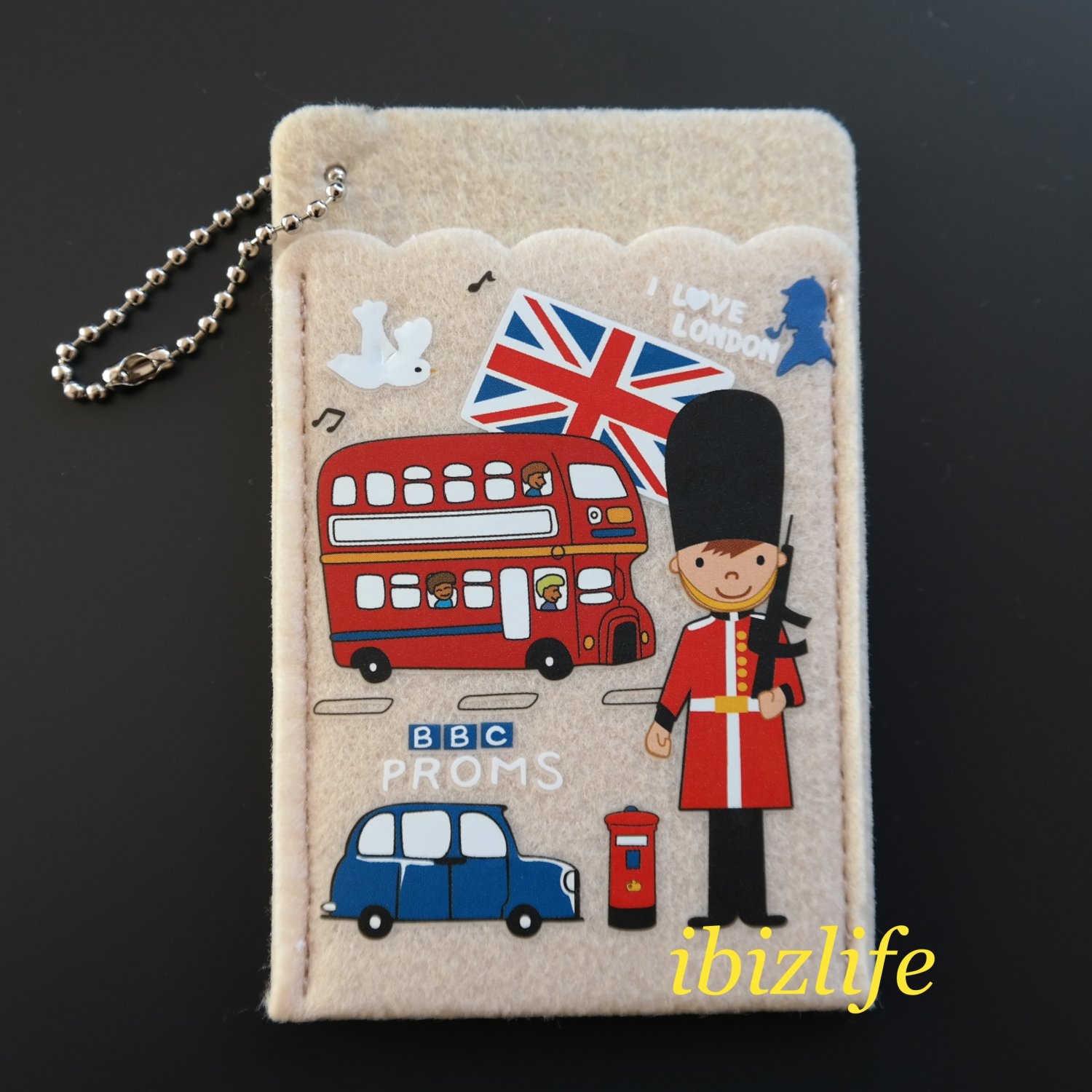 Fashion 2-sides pocket for cards with UK London style (FP02)