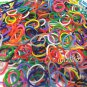 RAINBOW LOOM RUBBER BAND REFILL with 600 bands (8 diff. color mix) & 24 clips (RL08)