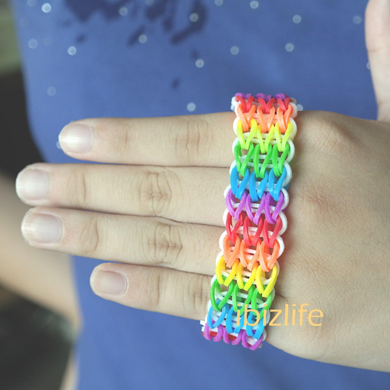 Rainbow color Triple Single Fishtail bracelet (RL04)