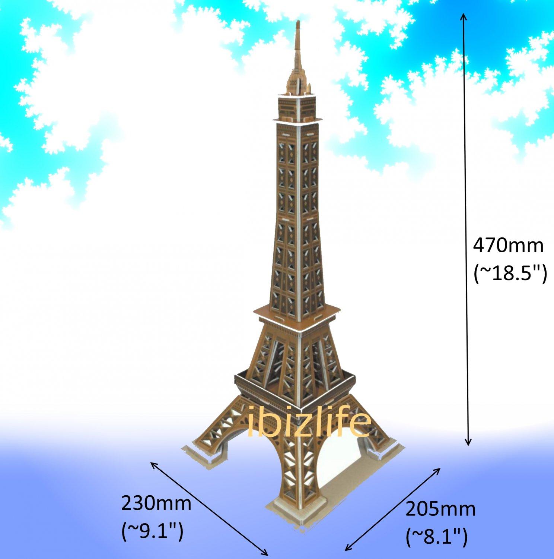 The Eiffel Tower - France Paris 3D Puzzle Calebou 35 pcs DIY Jigsaw model as gift (pc34)
