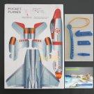 3D DIY Paper model flying pocket planes as gift for children and kids F-201   (pc37)
