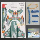 3D DIY Paper model flying pocket planes as gift for children and kids F-203  (pc38)
