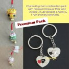 Charms-Keychain PremiumPack with 3 Charms and 1 pair of keychains (bbc15)