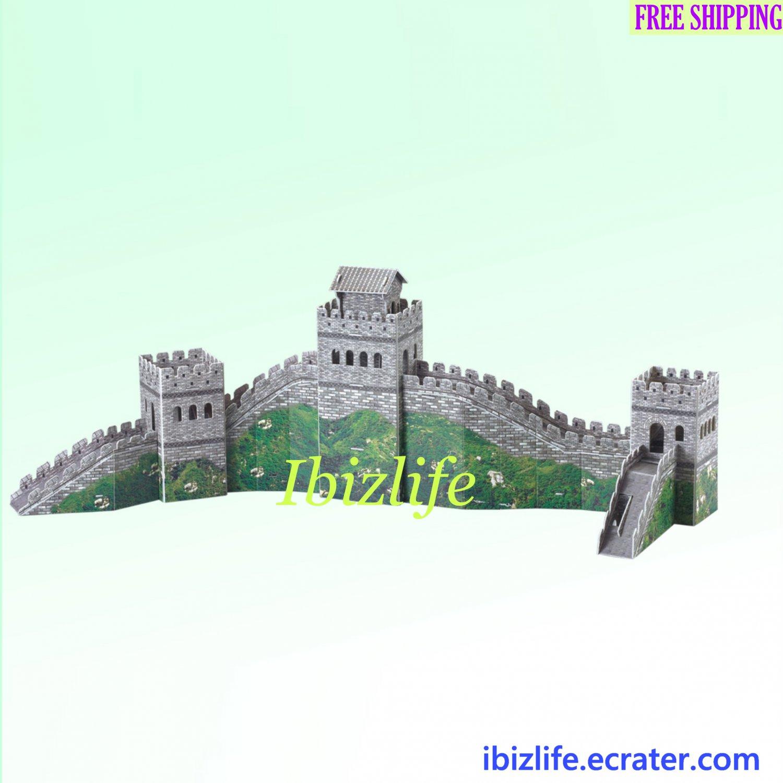 Great Wall - China 3D Puzzle 48 pcs DIY Jigsaw model as gift (pc50)