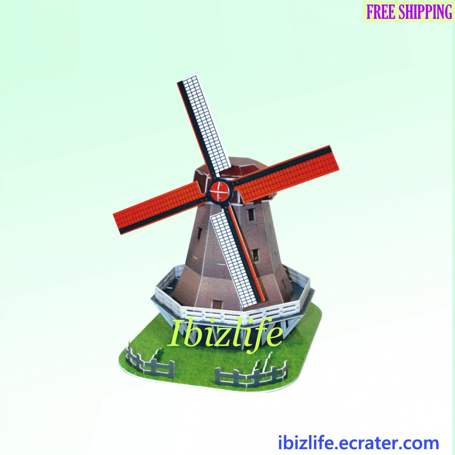Holland Windmill - Holland 3D Puzzle 35 pcs DIY Jigsaw model as gift (pc53)