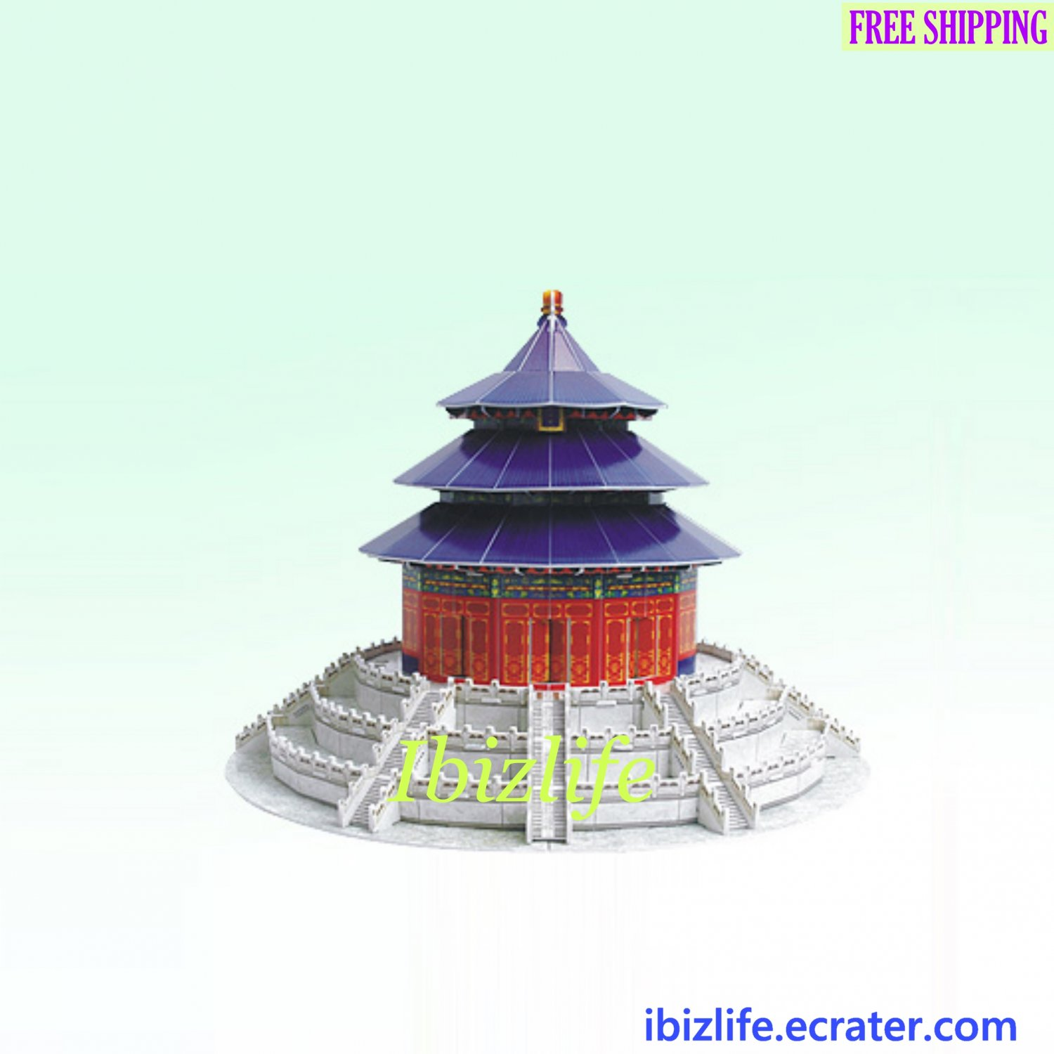 The temple of Heaven (China) - 3D Puzzle 115 pcs DIY Jigsaw model as gift (pc59)