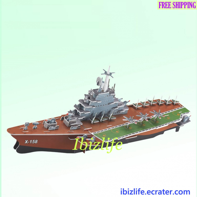 Kuzanetsov Aircraft Carrier - 3D Puzzle 91 pcs DIY Jigsaw model as gift (pc61)
