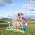 PAPER 3D puzzle DIY jigsaw Mini Double-storey Purple color Villa for kids (PC64)