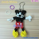 Handmade Multicolor carton character charm rainbow loom rubber band (RL26)