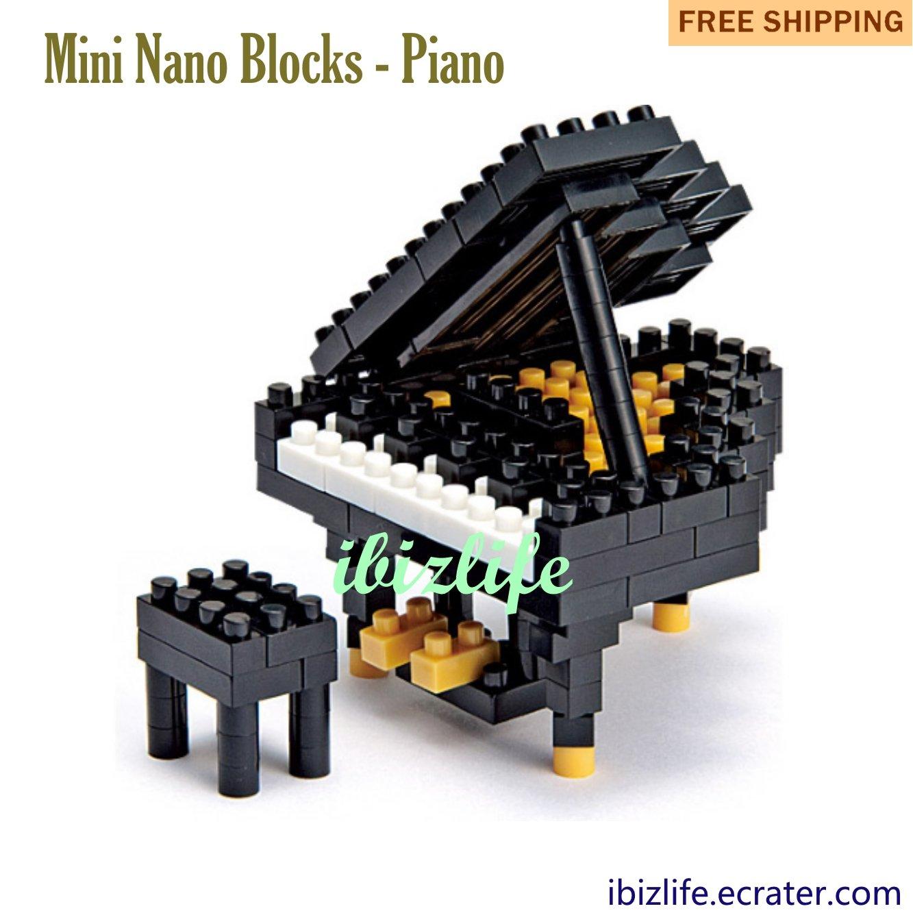 Piano: Diamond Blocks Mini Bricks Building Blocks DIY Education gifts - 110 pcs(BB01)