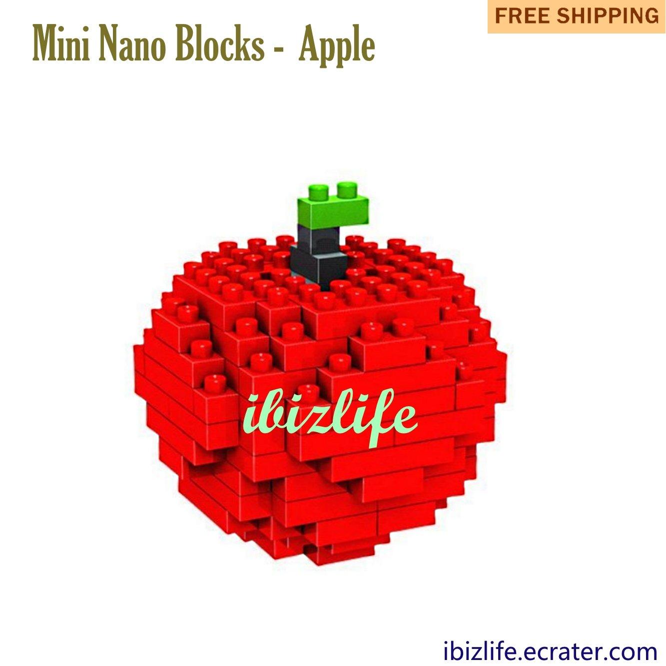 Apple: Diamond Blocks Mini Bricks Building Blocks DIY Education gifts - 110 pcs(BB04)