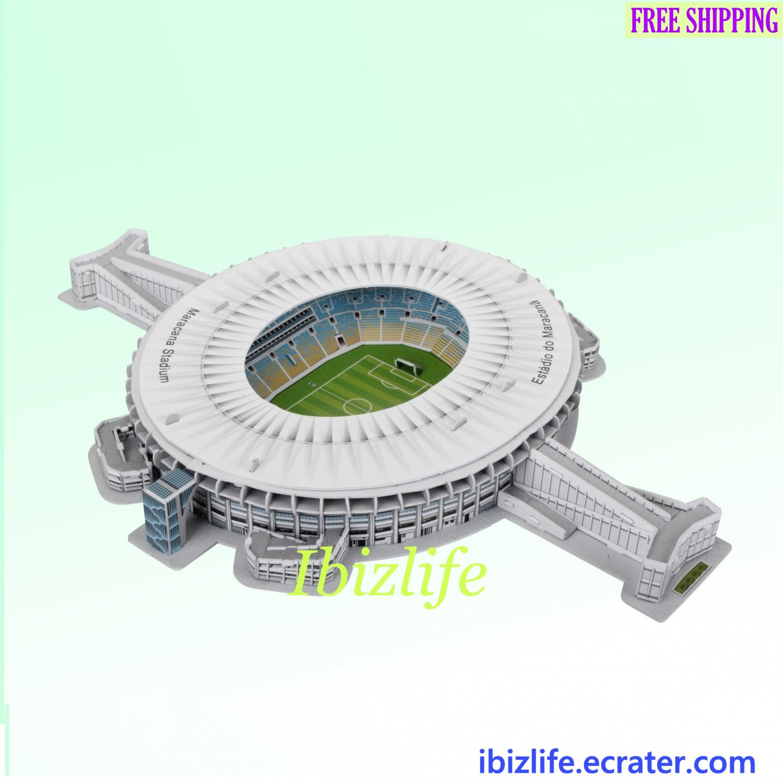 Maracana Stadium(Brazil) FIFA 2014 - 3D Paper Puzzle 123 pcs DIY Jigsaw as gift-pc56