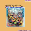 RAINBOW LOOM RUBBER BAND REFILL with 200 bands (Assorted color) & 12 Clips (RL46)