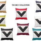 CUSTOM MADE THE BIG BLACK V THROW PILLOW COLLECTION