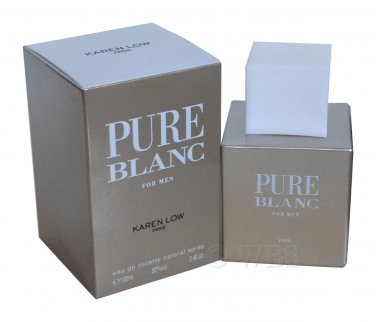 Pure Blanc Cologne For Men By Karen Low 3.4 Oz EDT Spray