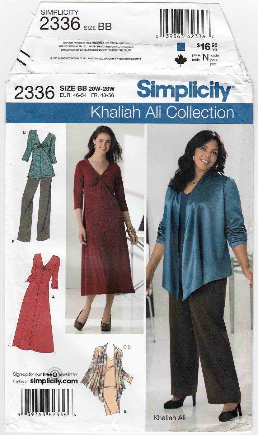 Pants, Skirt, Jacket, Dress, Tops Sewing Pattern Plus Size 20W-22W-24W-26W-28W UNCUT Simplicity 2336