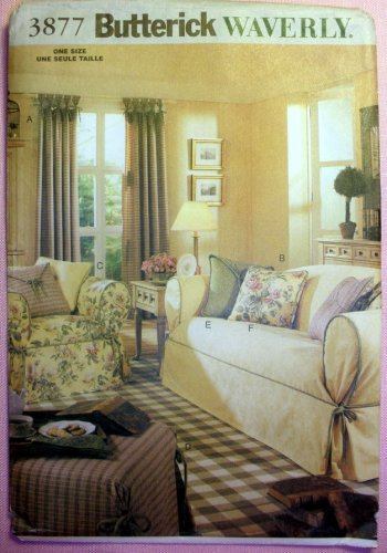 Superb Butterick 3877 Waverly Drapes Slipcovers And Pillows Home Theyellowbook Wood Chair Design Ideas Theyellowbookinfo