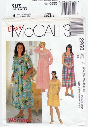 McCall\'s 2250 Women\'s Muumuu Dress in 3 Lengths Sewing ...
