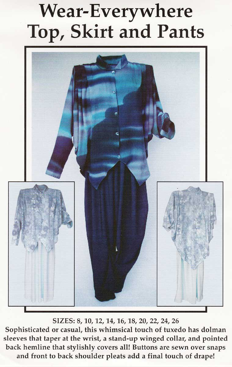 Wear-Everywhere Top, Skirt, Pants Sewing Pattern Size 8 - 26 UNCUT by CNT Pattern Company