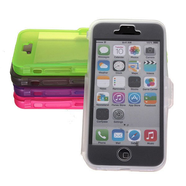 Transparent TPU Protective Case Cover For iPhone 5C