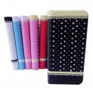 PU Leather Protector Stick bead Case For iPhone 5 5S