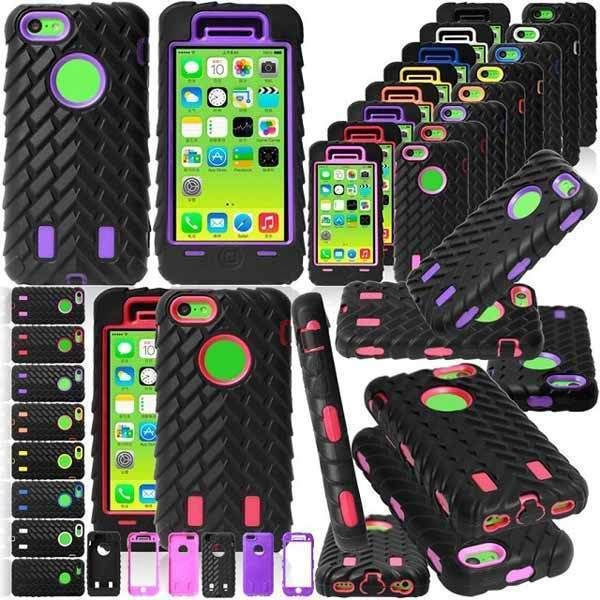 Tyre Grain Pattern Protector Case Cover For iPhone 5C Random Color