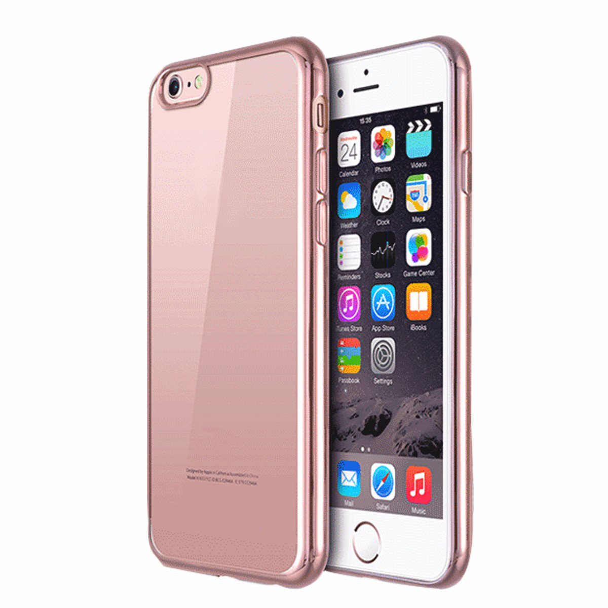 For iPhone 7/7 Plus Ultra Slim Clear Soft TPU Gel Shockproof Back  Rose Gold Case Cover Skin