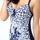 Sexy Wireless Push-Up Leopard Print One-piece Straps Swimsuit- XL