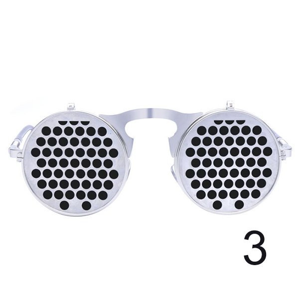 Steam Punk Gothic Vintage Sunglasses Flip Up Round Goggles Personality Glasses For Men Women Unisex