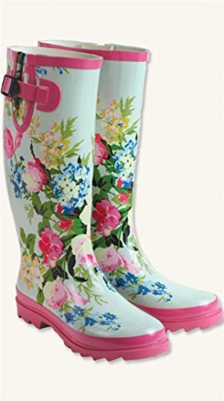 Watercolour Wellies Boots Sz 10