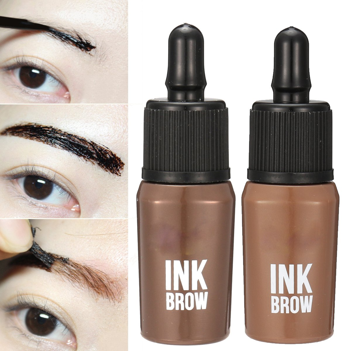 Long Lasting Peel Off Eyebrow Enhancers Eye Brow Tattoo Gel Dark Brown Waterproof Makeup