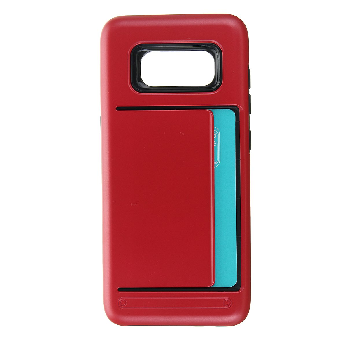 TPU+PC Hybrid Card-slots Shockproof Armor Cover Case For Samsung Galaxy S8 Plus:Red