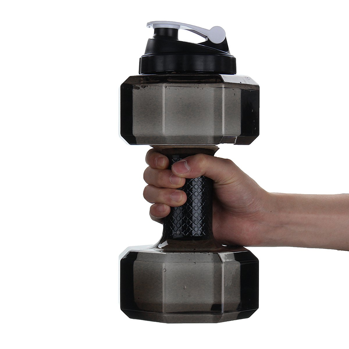 2.2L Portable Water Bottle Sports Travel Dumbbell Black