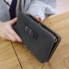 Universal 5.5 inch Butterfly Knot Functional Phone Wallet Case Cover for Xiaomi Samsung Huawei Black