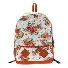 Floral Schoolbag/Backpack-White