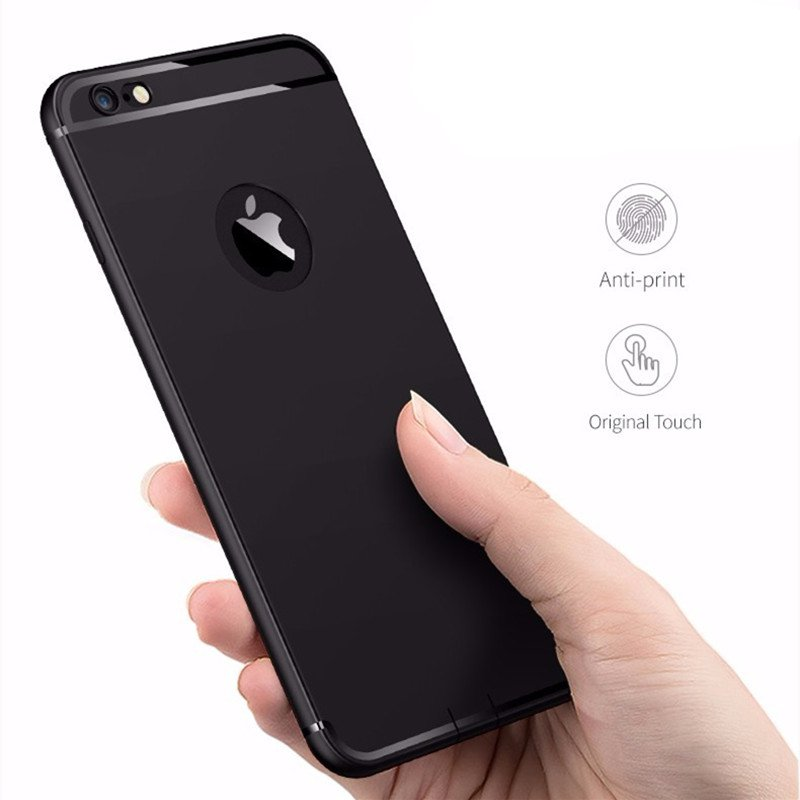 Apple Bakeey Ultra Thin Silicone With Dust Plug Back Cover Case for iPhone 6 & 6s Black