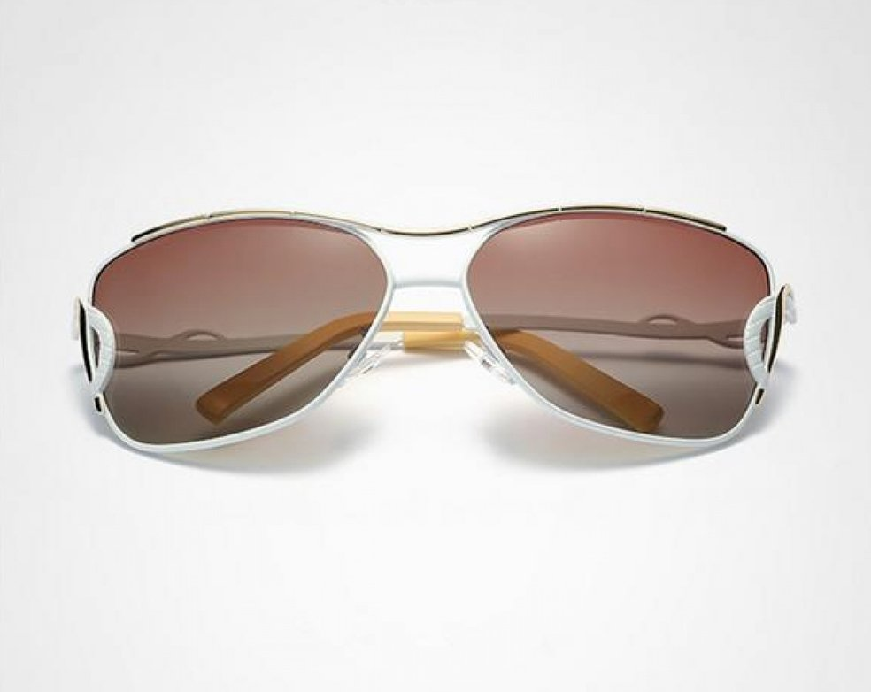 Unisex Vintage HD Polarized  Anti UV Driving Sunglasses White