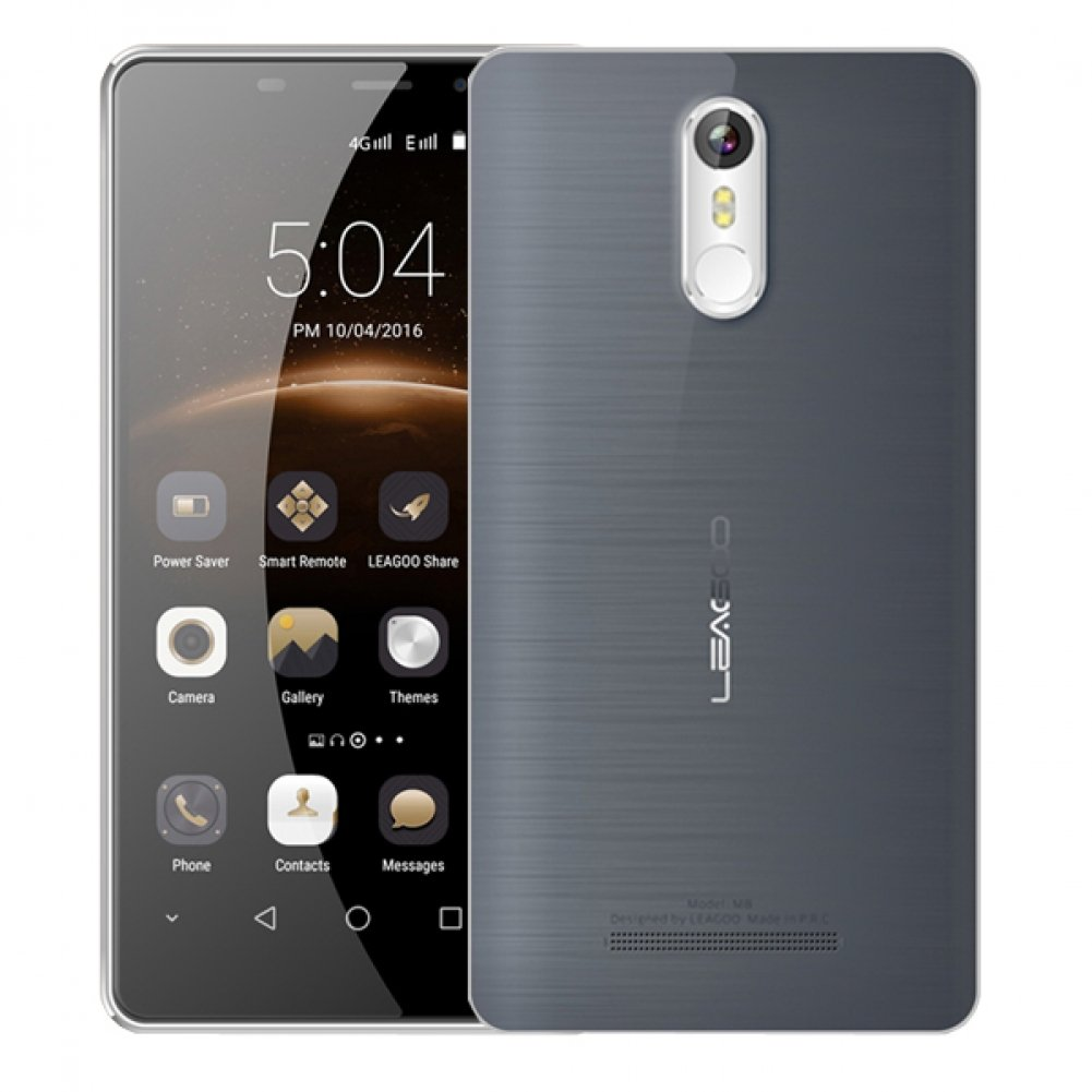 New Leagoo M8 5.7'' Gorilla Glass Fingerprint 2GB RAM 3G Smartphone Titanium Grey